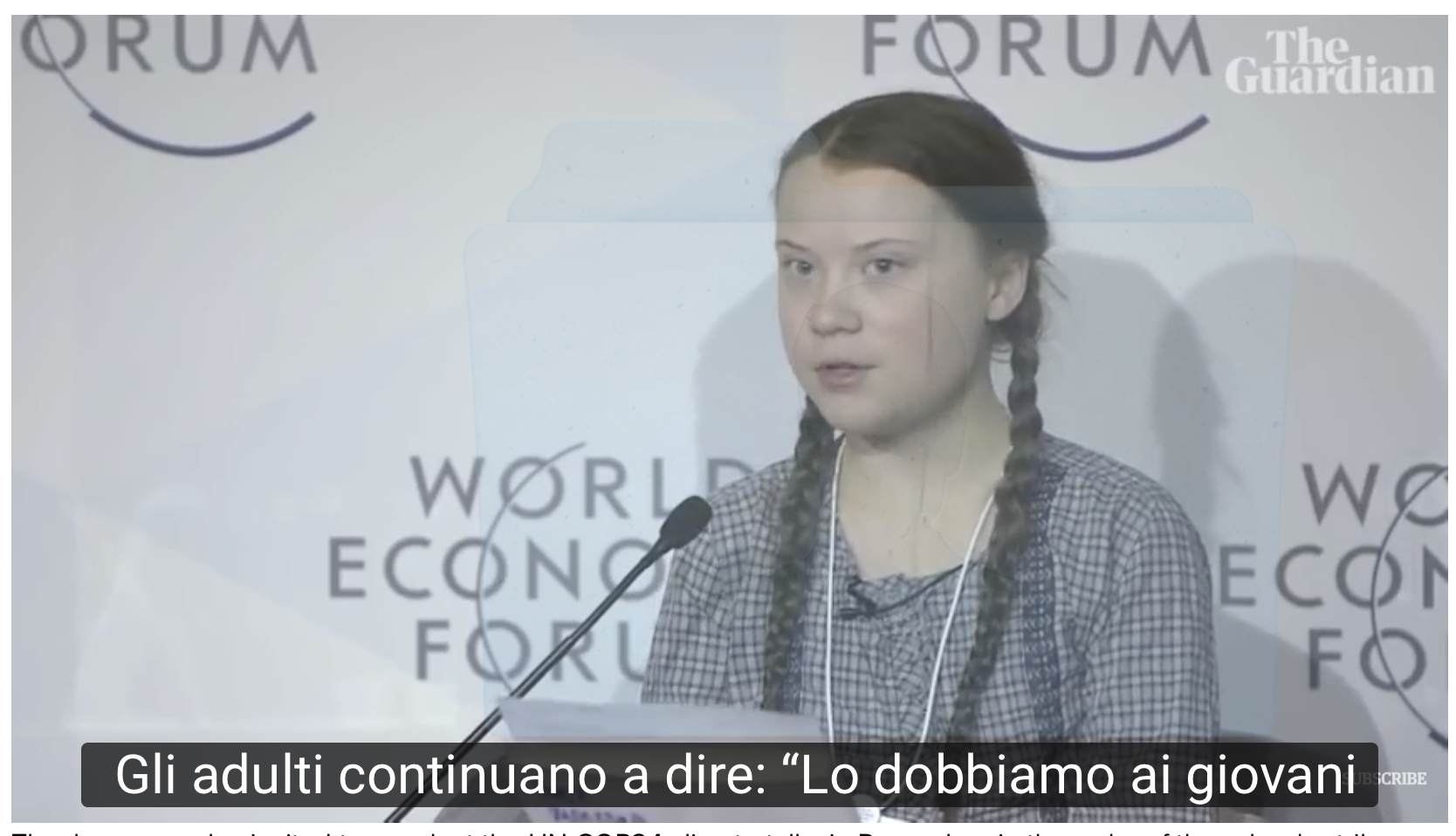 greta thunberg Davos UN COP24 World Economic Forum - Gennaio 2019 una boccata di ossigeno
