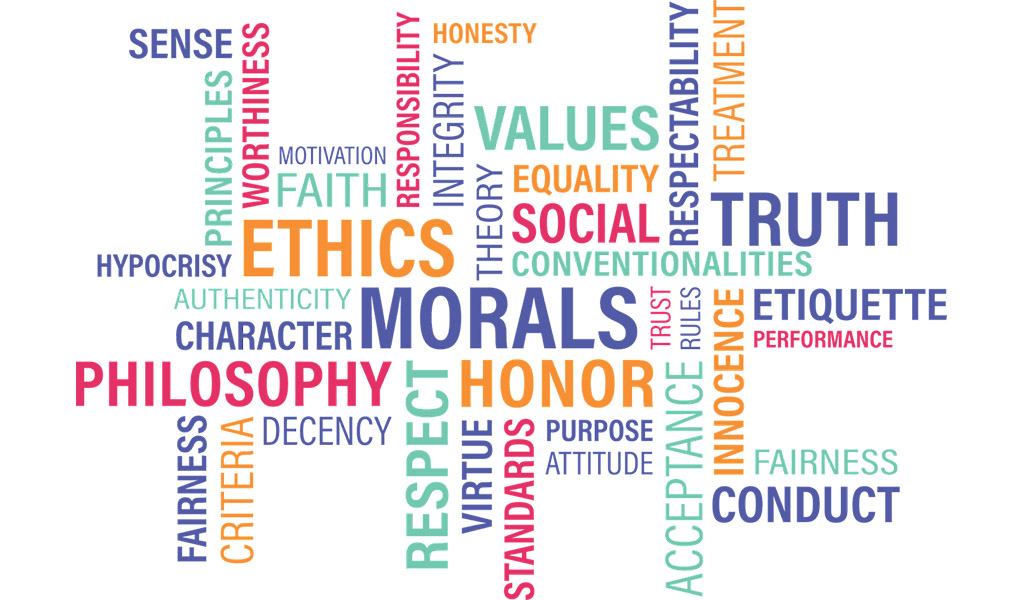 Un pannello di tag cloud contenente voci di Etica Pubblica in inglese