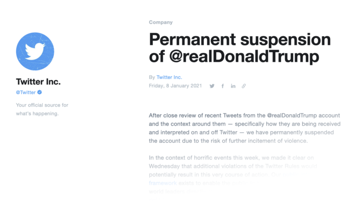 cretini twitter permanent suspension trump