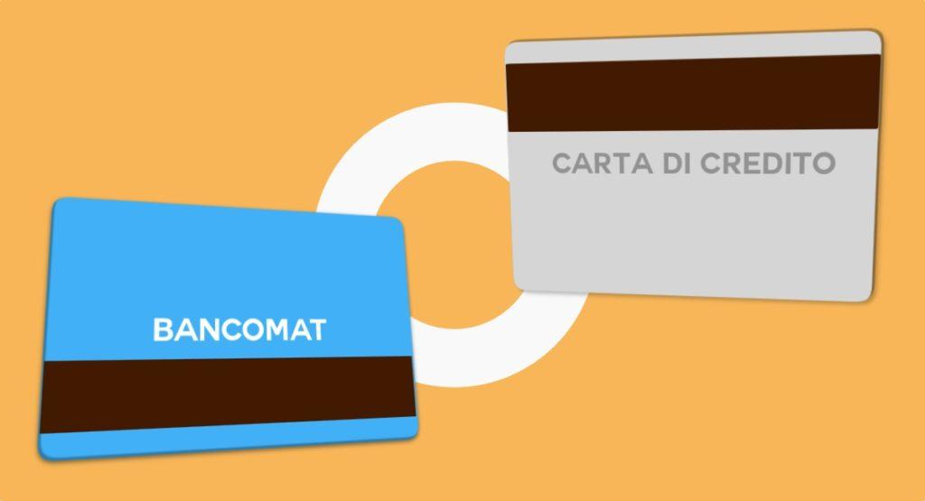 carta di credito bancomat carta di debito