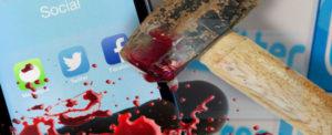 social martellati a sangue quotidianamente