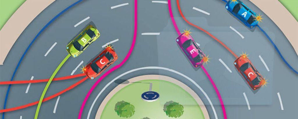 guida nelle rotonde della città